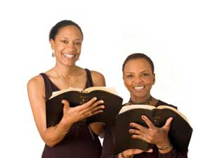 2 Ladies with Bibles