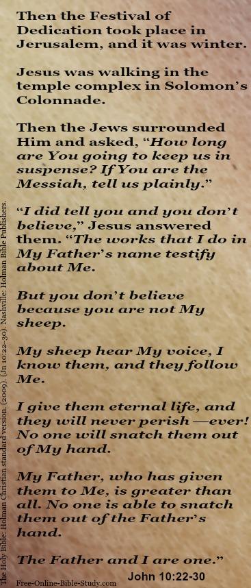 John 10:22-30