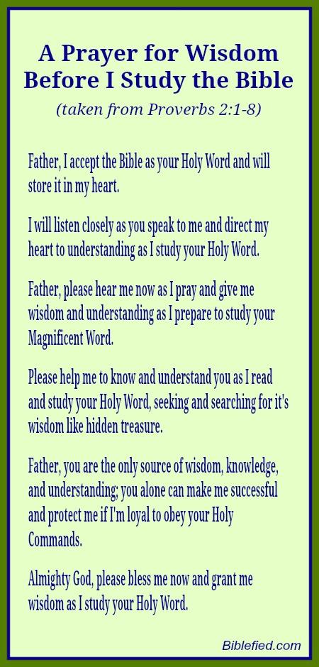 Ask God for Wisdom