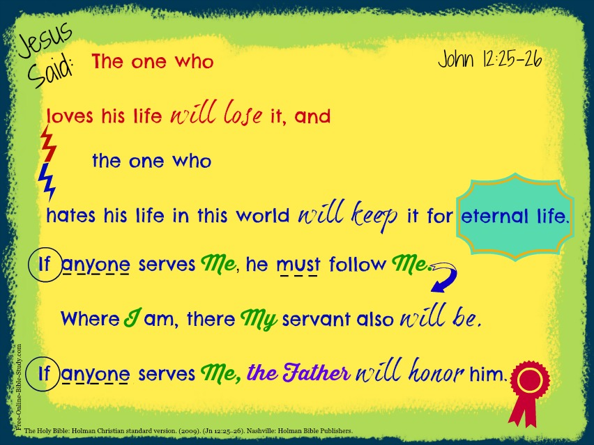 John12: 25-26