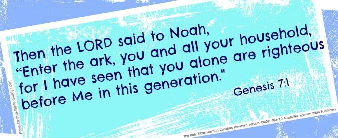 Genesis 7:1
