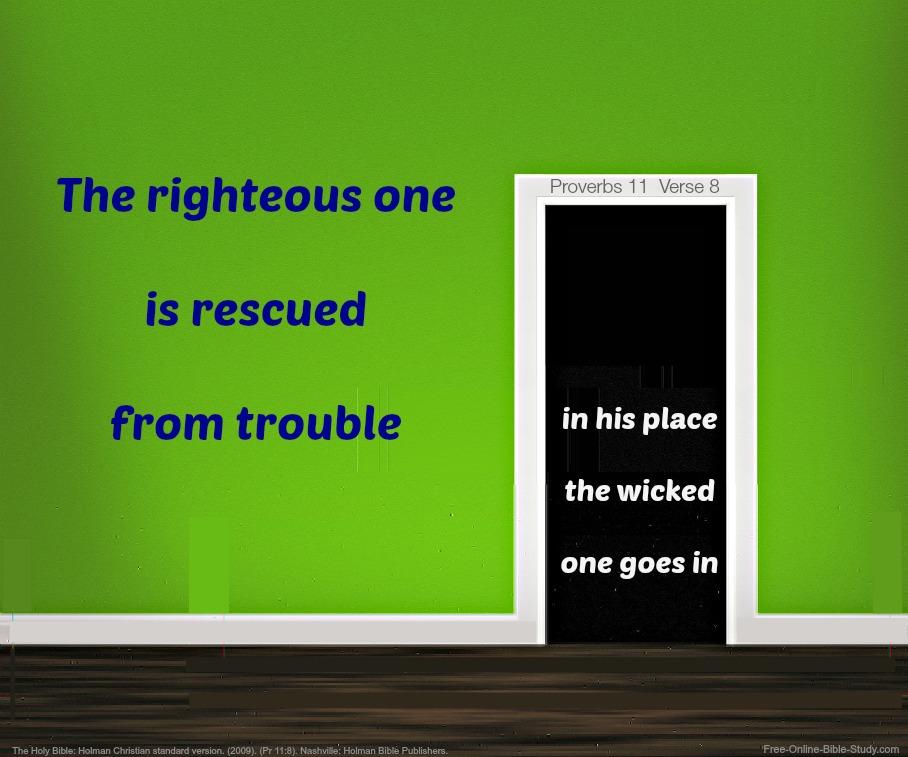 Proverbs11:8