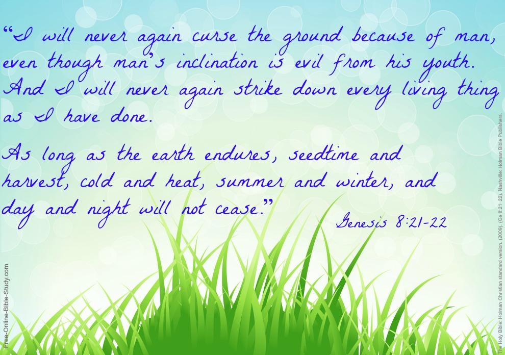 Genesis8:21-22