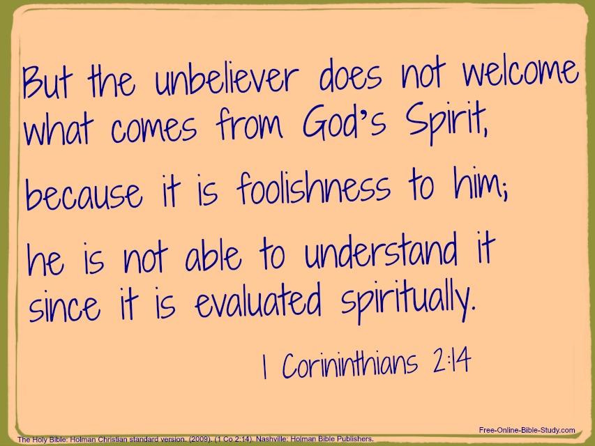 I Corinthians 2:14
