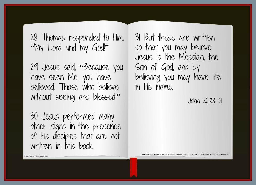 John 20:28-31