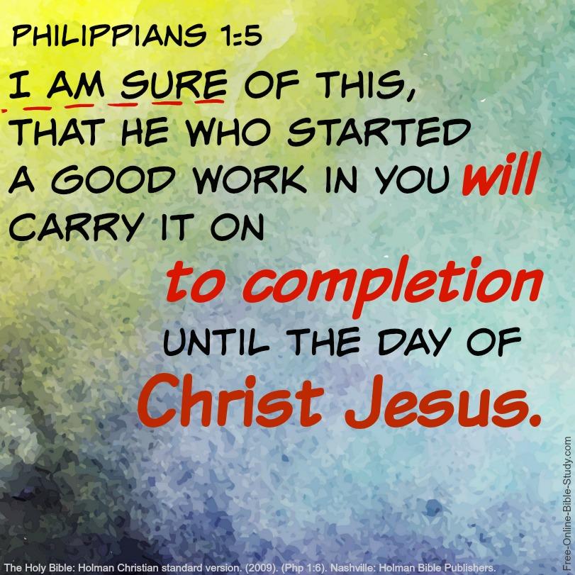Philippians 1:5