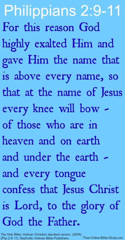 Phil 2:9-11