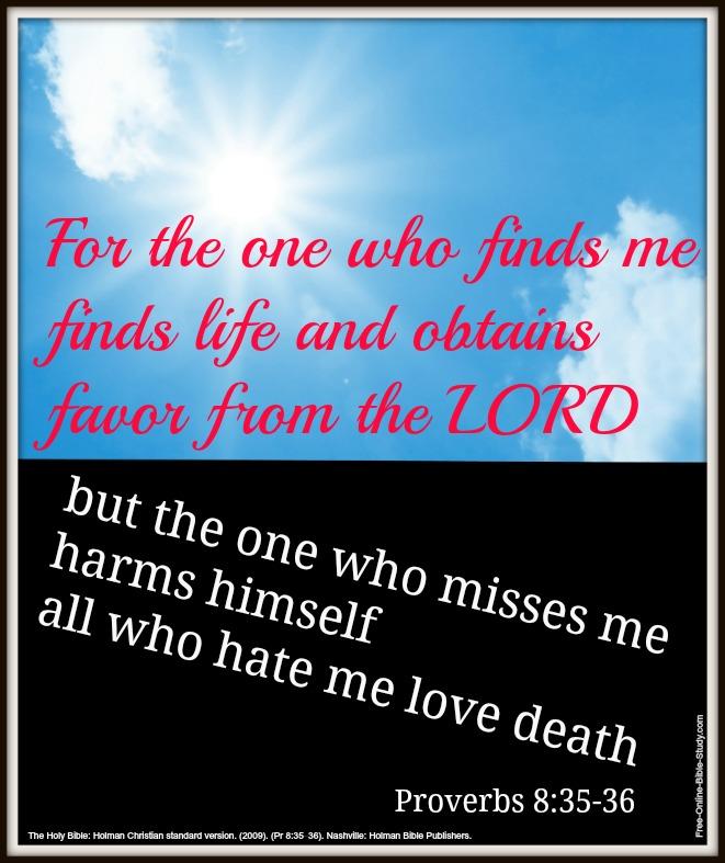 Proverbs 8:35-36